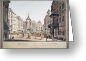 Viennese Greeting Cards - Vienna: Hohemarkt, 1793 Greeting Card by Granger