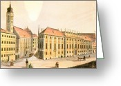Viennese Greeting Cards - Vienna: Lobkowitz Palace Greeting Card by Granger