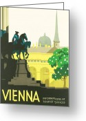 Wien Greeting Cards - Vienna Greeting Card by Nomad Art And  Design