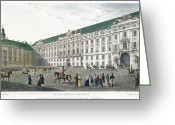 1823 Greeting Cards - Vienna: Palace, 1823 Greeting Card by Granger