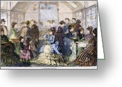 Viennese Greeting Cards - Vienna: Pastry Shop, 1873 Greeting Card by Granger