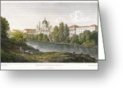 St. Charles Greeting Cards - Vienna: St Charles, 1821 Greeting Card by Granger