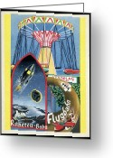 Viennese Greeting Cards - Viennese Fun Fair, Historical Post Card Greeting Card by Detlev Van Ravenswaay