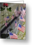 Veteran Photography Greeting Cards - Vietnam War Memorial Greeting Card by Stocktrek Images