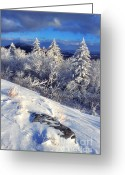 Chill Greeting Cards - View along Highland Scenic Highway Greeting Card by Thomas R Fletcher