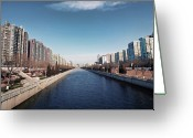 Infinity Greeting Cards - View Down Canal Greeting Card by Andy Brandl
