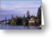 Bays Greeting Cards - View From A Quiet Place Lodge Greeting Card by Rich Reid