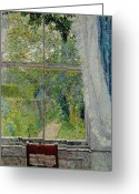 Gore Greeting Cards - View from a Window Greeting Card by Spencer Frederick Gore
