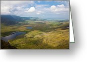 Eire Greeting Cards - View from Connor Pass Greeting Card by Gabriela Insuratelu