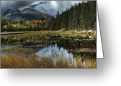 Storm Digital Art Greeting Cards - View From Cub Lake Greeting Card by Pete Hellmann