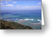 Diamond Head Greeting Cards - View from Diamond Head Greeting Card by Kylani Arrington