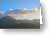 Hanalei Beach Greeting Cards - View from Hanalei Greeting Card by Lauren Thomas