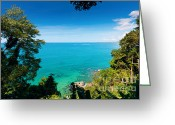 Coral Reef Greeting Cards - View From Khao-lak Greeting Card by Atiketta Sangasaeng