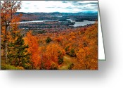 Folage Greeting Cards - View From McCauley Mountain II Greeting Card by David Patterson