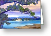 California Greeting Cards - View from Mohawk  Lake Cachuma Greeting Card by Kurt Van Wagner