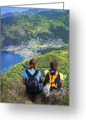 Amaze Greeting Cards - View from Petit Piton- St Lucia  Greeting Card by Chester Williams