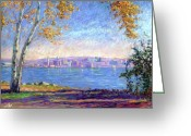 Pastels. Greeting Cards - View from Presque Isle Greeting Card by Michael Camp