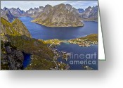 Koehrer-wagner_heiko Greeting Cards - View from Reinebringen Greeting Card by Heiko Koehrer-Wagner
