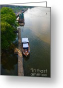 Nashville Greeting Cards - View from the Bridge in Nashville Greeting Card by Susanne Van Hulst