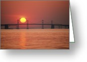Twilight Greeting Cards - View From The Water Of The Chesapeake Greeting Card by Kenneth Garrett