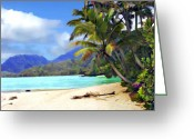 Islands Digital Art Greeting Cards - View from Waicocos Greeting Card by Kurt Van Wagner