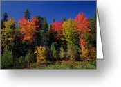 October Greeting Cards - View in the Appalachian Mountains Greeting Card by View in the Appalachian Mountains