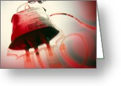 Donation Greeting Cards - View Of A Bag Containing A Blood Donation Greeting Card by Tek Image