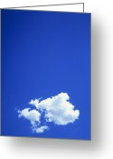 Cumulus Cloud Greeting Cards - View Of A Cumulus Cloud Greeting Card by Mauro Fermariello