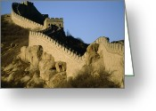 Asian Architecture And Art Greeting Cards - View Of A Section Of The Great Wall Greeting Card by Michael S. Yamashita