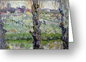 1889 Greeting Cards - View of Arles Greeting Card by Vincent Van Gogh