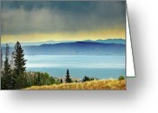 Utah Weather Greeting Cards - View Of Bear Lake Greeting Card by Utah-based Photographer Ryan Houston
