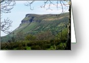 Glacier Greeting Cards - View of Benbulben from Glencar Lake Ireland Greeting Card by Teresa Mucha