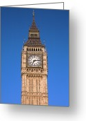 Cities Art Greeting Cards - View Of Big Ben At The British Capital Greeting Card by George Doyle