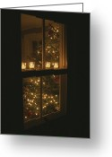 Decoration And Ornament Greeting Cards - View Of Candles And A Christmas Tree Greeting Card by Roy Gumpel