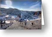 No People Greeting Cards - View Of Great Wall Greeting Card by Photograph by Sunny Ip.
