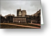 Independence Hall Greeting Cards - View of Independence Hall in Philadelphia Greeting Card by Bill Cannon