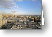 Birds Eye Greeting Cards - View Of London, Uk Greeting Card by Carlos Dominguez