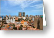 Pacific Greeting Cards - View Of Miraflores, Lima Greeting Card by Richard Fairless