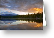 Trillium Lake Greeting Cards - View of Mt. Hood from Trillium Lake Greeting Card by Ian Frazier