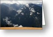 Olympic National Park Greeting Cards - View Of Olympic Mountains Greeting Card by Tim Laman
