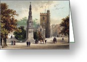Martyr Greeting Cards - VIEW OF OXFORD, c1885 Greeting Card by Granger