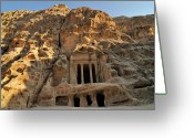 Ancient Civilization Greeting Cards - View Of Pequea Petra Greeting Card by Molina