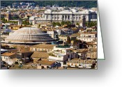 Rooftops Greeting Cards - View of Romes rooftops taken from the Vittorianos panoramic vi Greeting Card by Fabrizio Troiani