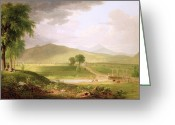 1796 Greeting Cards - View of Rutland - Vermont Greeting Card by Asher Brown Durand