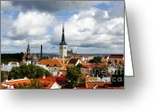 Roof Greeting Cards - View of St Olavs Church Greeting Card by Fabrizio Troiani