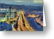 Railroad Track Greeting Cards - View Of Street Greeting Card by marcp_dmoz on Flickr