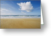 Hatteras Greeting Cards - View Of Sun, Sand, And Surf At Cape Greeting Card by Skip Brown