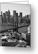 New York City Greeting Cards - View of the Brooklyn Bridge Greeting Card by Madeline Ellis