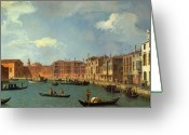 Canals Painting Greeting Cards - View of the Canal of Santa Chiara Greeting Card by Canaletto