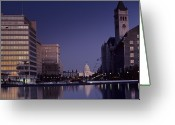 Landmarks Greeting Cards - View Of The Capitol Building Greeting Card by Kenneth Garrett